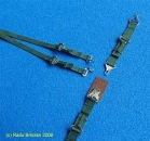 USAF/USN seatbelts, green WW II 1/32